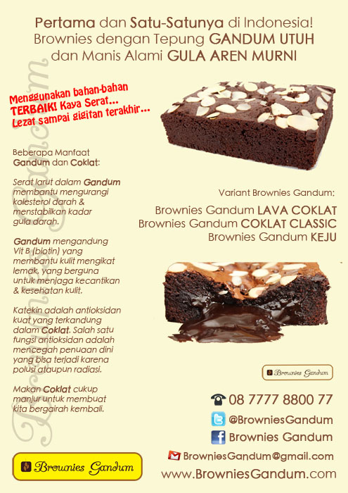 Brownies Gandum Brownies Gandum