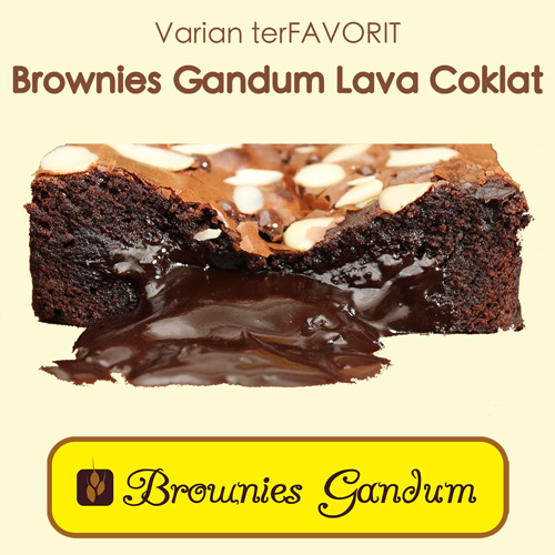 Brownies Gandum Favorit Lava Coklat