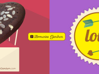 Brownies Gandum Love Valentine 2015